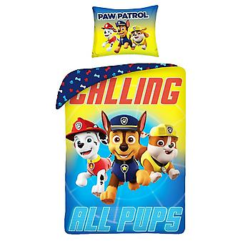 Parure Copripiumino Paw Patrol Chilling All Pups