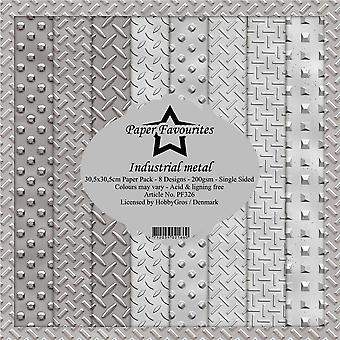 Paper Favourites Industrial Metal 12x12 Inch Paper Pack