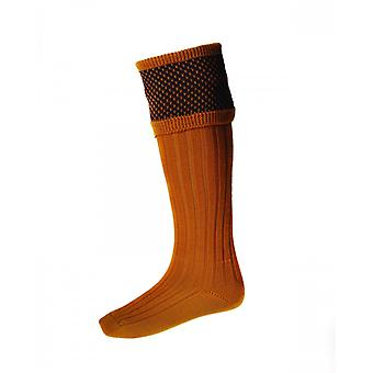 House of Cheviot Country Socks Tayside ~ Ochre