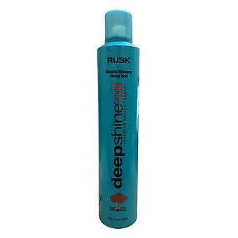 Rusk Deep Shine Oil Shaping Hair Spray Strong Hold 10.6 OZ