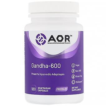 Advanced Orthomolecular Research AOR, Gandha-600, 120 Capsules végétariennes