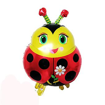Cartoon Insect Modeling Ladybug Bees Frog Snail Aluminum Film Balloon  -
