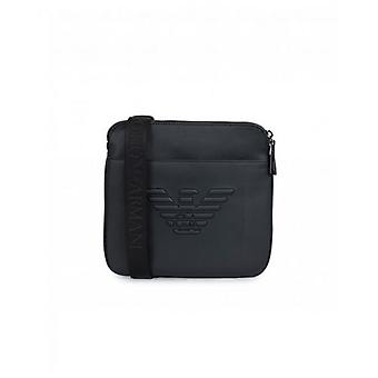 Armani Accessories Embossed Eagle Cross Body Pouch Bag