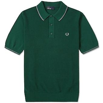 Fred Perry Knitted Polo Shirt Men's Short Sleeved Top K7200-426