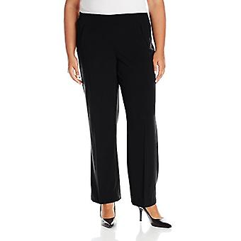 Briggs New York Women's Plus-Size Hollywood Waist Straight-Leg Pull-On Pant, ...