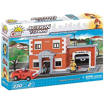 Cobi Fire Station With Patrol Vehicle Building Blocks Bricks For Kids 330 Piece Compatible Age 5+