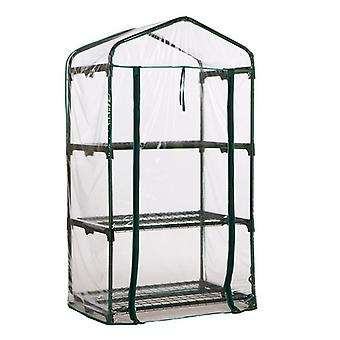 3 Tier Mini Garden Greenhouse / Growhouse with PVC Cover (130 x 50 x 69cm)