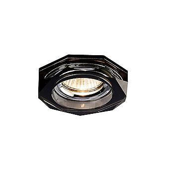 Inspiriert Diyas - Crystal Downlights - Einbau downlight Deep Hexagonal Rim only Black, erfordert 100035310, um den Artikel zu vervollständigen