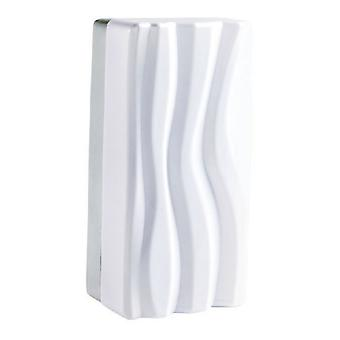 Seinävalaisin 12W LED valkoinen IP44 3000K, 720lm, kiillotettu kromi, valkoinen akryyli