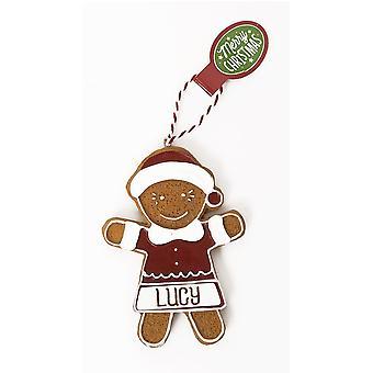 Historie og heraldik personlige honningkager træ dekorationer - Lucy