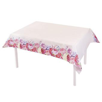Truly Scrumptious Floral Paper Table Cover 180cm x 120cm