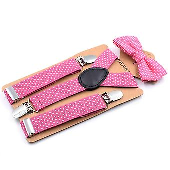 Multicolor Suspender And Bow Tie Set Boys Girls