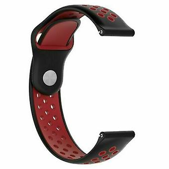 For Huawei Watch GT Replacement Silicone Sports Band Strap[Black/Red]
