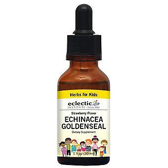 Eclectic Institute Inc Kid's Echinacea Goldenseal, Mansikka 1 oz alkoholiton