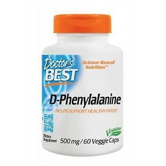 Doctors Best D-Phenylalanine, 500 mg, 60 VCaps