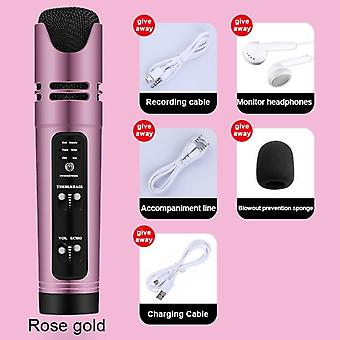 Handheld Condenser Microphone -support 6 Live/video (1000mah )