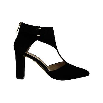 Adrienne Vittadini Femmes Nikos Suede Pointed Toe Ankle Strap Classic Escarpins