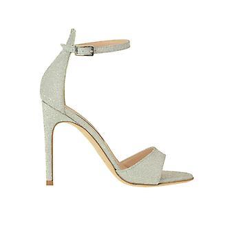Guglielmo Rotta Ezgl576001 Women's Silver Glitter Sandals