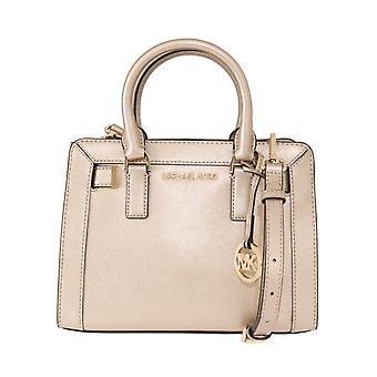 Pale gold dillon leather satchel bag