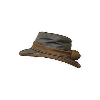 Walker and Hawkes - Ladies Wax Windsor Hat Wide Brim With Flower