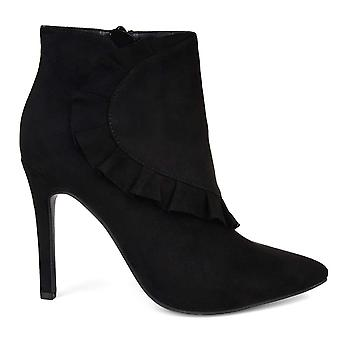 Journee Collection Women's Shoes Cress Suede Pointed Toe Ankle Fashion Boots