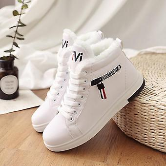 Winter Ankle Warm Up Plush Sneakers Flats Lace Up Ladies Snow Boots