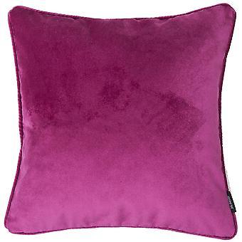 Matt fuchsia pink velvet cushion