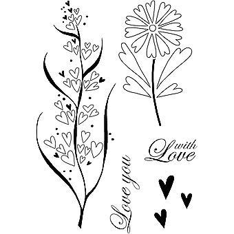 Woodware Clear Stamps - Corações Rústicos