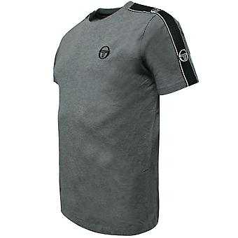 Sergio Tacchini Mens Feather T-Shirt Taped Logo Top Grey 38536 921