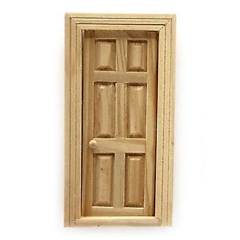 Dolls House Bare Wood 6 Panel Internal Door 1:24 Half Inch Scale Diy Builders