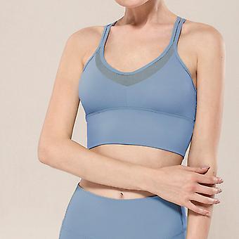 Mesh stitching yoga bra Q48