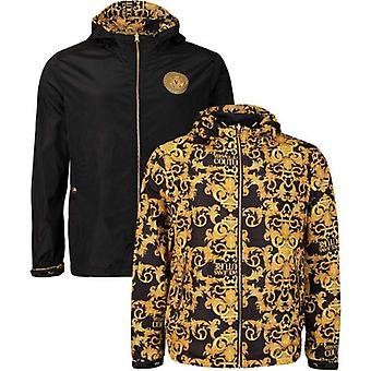Versace Jeans Couture Baroque Print Reversible Hooded Jacket