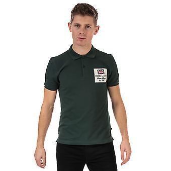 Men's Henri Lloyd Cotton Piquet Patch Polo Shirt in Green