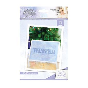 Crafter's Companion Glittering Snowflakes 5x7 Inch Cut & Emboss Folder Hello Winter