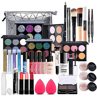 MKNZOME 37 Pcs All-In-One Makeup Kit, Cosmetic Gift Set Combination