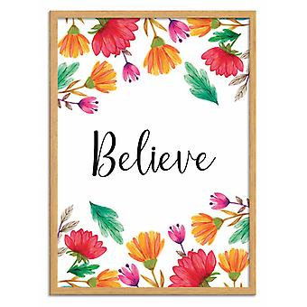 Art-Poster - Floral believe - Seven trees