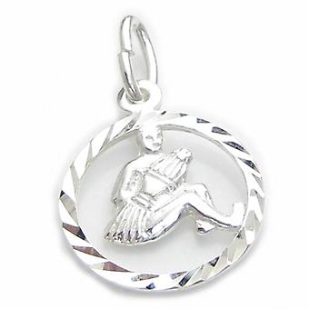 Aquarius Water Carrier Sterling Silver Charm .925 X1 Small Zodiac Charms - 6102