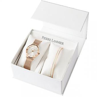 Damenuhr Pierre Lannier Uhren Multiple Quartz Silber 352J929 - Edelstahl-Armband Rosé