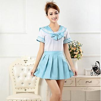 Japanese Style, Sailor Shirt + Pleated Skirt Set- Woman Cosplay, Costumes, Jk