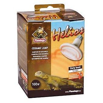Flamingo Helios keraaminen lamppu 100 W. (Matelijat, Lämmittimet, Lamput)