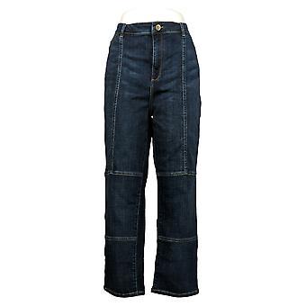 LOGO By Lori Goldstein Women's Jeans Plus Straight Leg Blue A377013