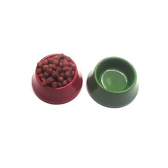 Dollhouse Miniature Pet Dog Cat Food On Bowl Kitchen Garden Accessories