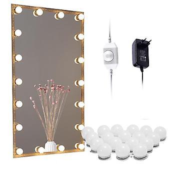 Hollywood make-up světla Marnost 10/18 Žárovky pro koupelny / stěna / Prádelník