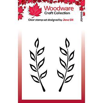 Woodware Clear Postimerkit - Singles - Fiona Leaf