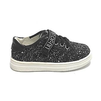 Liu-jo Shoes Sneaker Mini Alicia 301 Glitter Black 4a1301
