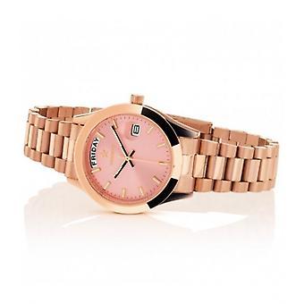 Hoops Luxury Day Date Gold Rose 33mm Women's Watch