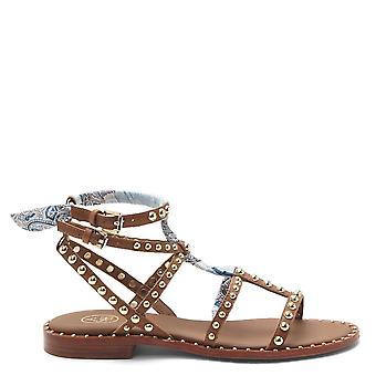 Ash Footwear Patchouli Studded Leather Sandals Brown