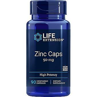 Life Extension sinkki lippikset 50 mg 90 Veggie kapselit