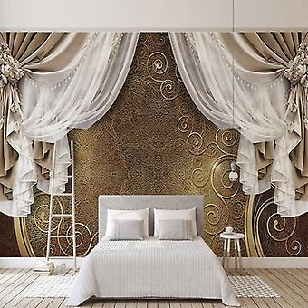 3d Stereo Curtain, Lace Photo Murals, Wallpaper, Living Room, Bedroom, Luxury