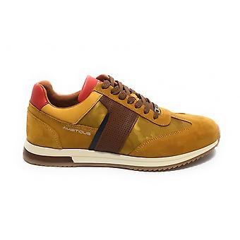 حذاء رجال طموح 11319 حذاء رياضي يعمل بلون أصفر US21am15